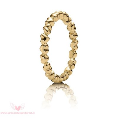 Pandora Online Outlet Anelli Amore Eterno Cuore 14K Oro