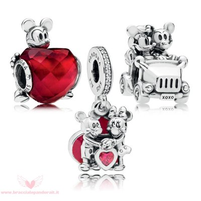 Pandora Online Outlet Disney Mickey Pacchetto Charm Amore E Minnie