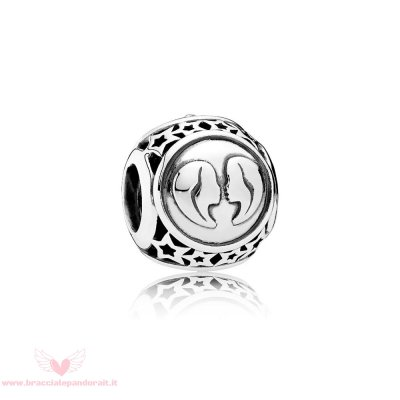 Pandora Online Outlet Compleanno Charms Gemini Segno Zodiacale Charm