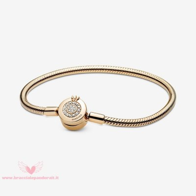 Pandora Online Outlet Pandora Moments Scintillante Corona O Catena Di Serpenti Shine Bracciali