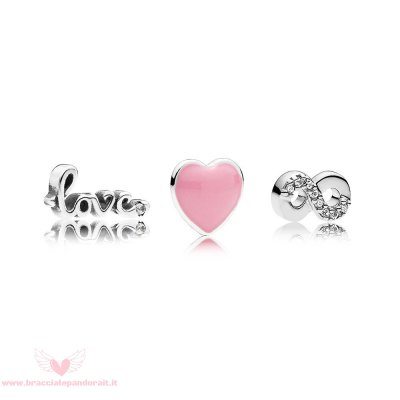 Pandora Online Outlet Pacchetto Charm Per Amore Eterno