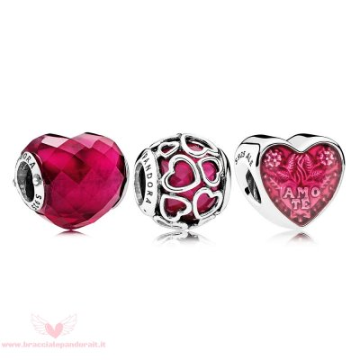 Pandora Online Outlet Fortunato In Amore Fucsia Fascino Pack