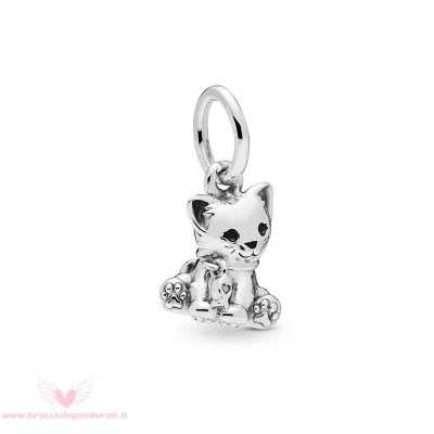 Pandora Online Outlet Gatto Dolce Penzolare Charm