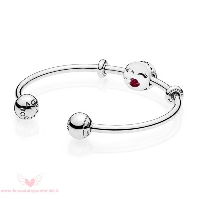 Pandora Online Outlet Cute Bacio Open Bangle Regalo