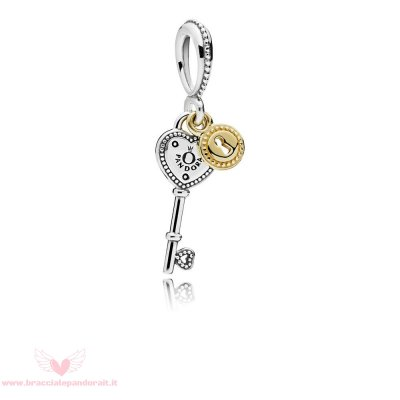 Pandora Online Outlet Chiave To My Cuore Dangle Charm