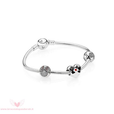 Pandora Online Outlet Il Bacio Di Mickey Mouse E Minnie