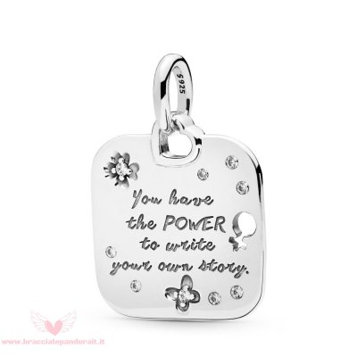 Pandora Online Outlet Pendente Motto Empowerment Donna