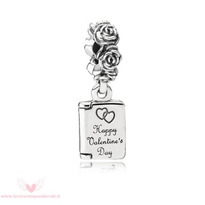 Pandora Online Outlet Simboli D'Amore Charms Amore Nota Penzolare Charm