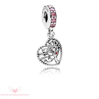 Pandora Online Outlet Tree Of Amore Dangle Charm Mixed Enamel Multi Colored Cz