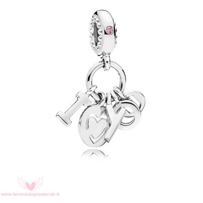 Pandora Online Outlet Amore You Dangle Charm Fancy Fuchsia Pink Cz