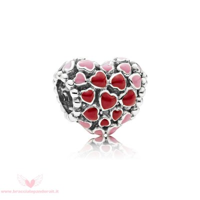 Pandora Online Outlet Burst Of Amore Charm Mixed Enamel
