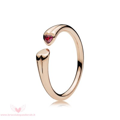 Pandora Online Outlet Two Cuores Anelli Pandora Rose Red