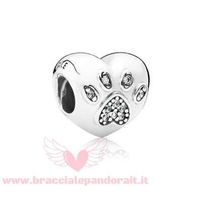 Pandora Online Outlet Animali Charms Io Amo Il Mio Animale Domestico Charm Clear Cz