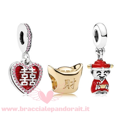 Pandora Online Outlet Happiness Fortune And Luck Charm Pack
